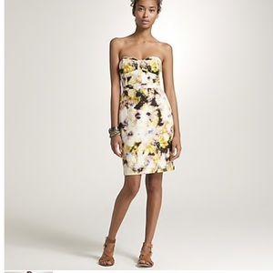 J. Crew fleurette bustier dress strapless 2